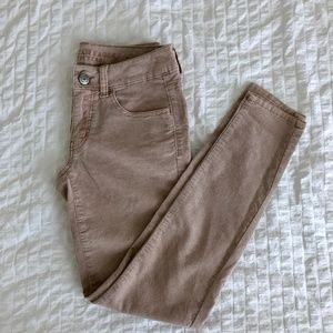 American Eagle Light Pink Corduroy Jeggings | 2S